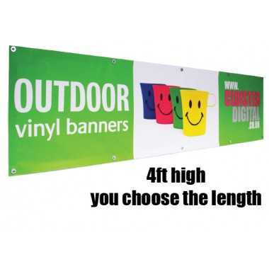 Outdoor Banners 4ft High choose your length